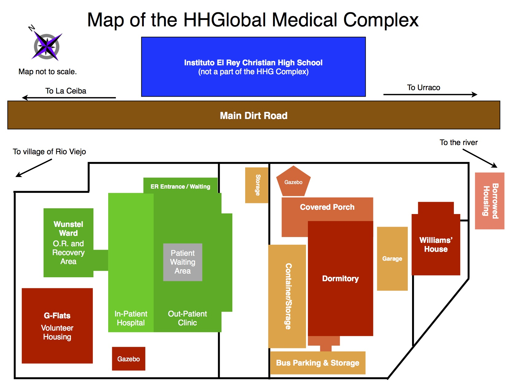 Healing Hands Global Complex Map